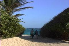 Macaroni Beach Entrance Stock Footage