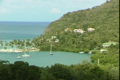 Maho Bay-pan Stock Footage