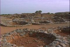 Malia Palace Storage-pans Stock Footage