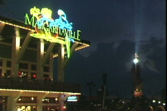 Margaritaville-Night - stock footage