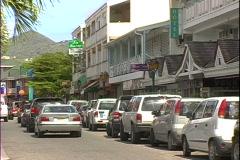 Marigot Back Street-zoom - stock footage