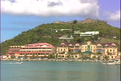 Marigot Harbor-pan Stock Footage