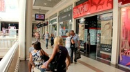 Shopping area Stock Footage