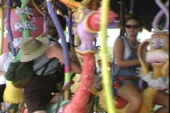Merry-go-round - stock footage