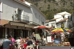 Mijas Cafe People-zoom Stock Footage