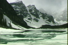 Moraine Lake Green Water Stock Footage