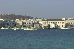 Mykonos Harbour-ws Stock Footage