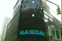 NASDAQ Sign - stock footage