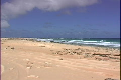 North Shore Beach-zoom in - stock footage