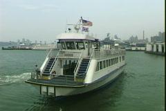 NY Ferry Turns Stock Footage