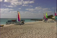 Our Lucaya Beach Sailboats Stock Footage