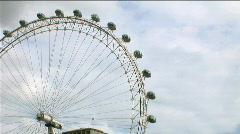 London Eye Cabins Wide - stock footage