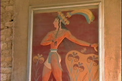Palace Fresco-cu-tilts Stock Footage