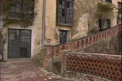 Palace in Disrepair-pans Stock Footage