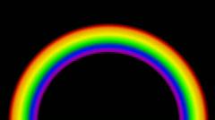 Color rainbow bridge. Stock Footage