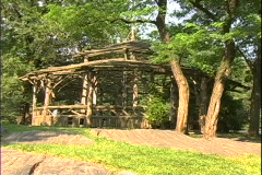 Park Shelter-zoom Stock Footage