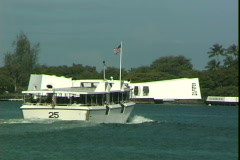 Pearl Harbor Memorial Ferry Stock Footage