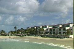 Pelican Resort Beach Stock Footage