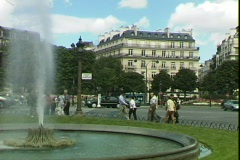 Plaza Fountain Stock Footage