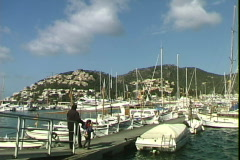 Port d'Andratx Father & Son Stock Footage