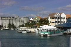 Port Lucaya Boats Stock Footage