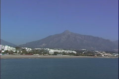 Puerto Banus Beach-ws-pan Stock Footage