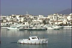 Puerto Banus Marina Tug-ws Stock Footage