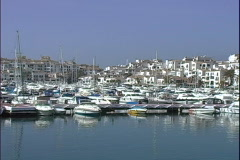 Puerto Banus Marina-ws-pan Stock Footage