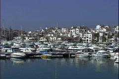 Puerto Banus Marina-ws-zoom Stock Footage