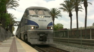 Stock Video Footage of Amtrak Train Departs Station (w/Audio)