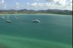Rodney Bay Ships Stock Footage
