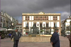Ronda Plaza People Stock Footage