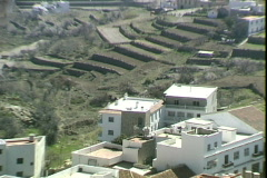 Rooftop Village View-zooms Stock Footage