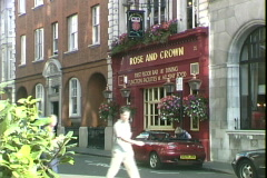 Rose and Crown Pub Stock Footage