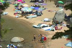 Sand Harbor Beach Kids Stock Footage