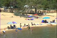 Sand Harbor Beach-zoom Stock Footage