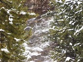 Snowy Summit River Stock Footage