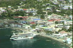 Soufriere Dock Stock Footage