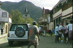 Soufriere Street Stock Footage