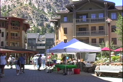 Squaw Valley Plaza Stock Footage