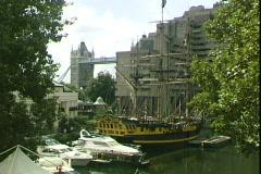 St Katherine's Dock Stock Footage