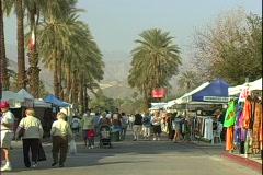 Street Fair People-ws - stock footage