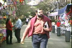 Street Venders-zoom Stock Footage