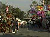 Sun Booth Street Fair Stock Footage