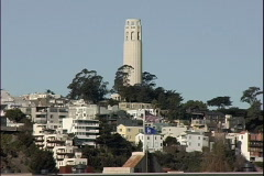 Telegraph Hill & Flags Stock Footage
