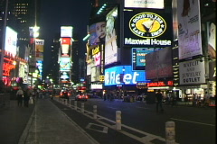 Times Square-ws-Night Stock Footage