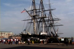 USS Constitution Tourists-ws Stock Footage