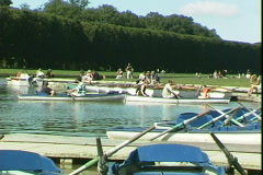 Versailles Rowboats Stock Footage