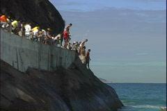 Walkway Jumpers-zoom Stock Footage