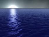 Ocean Misty Moon Stock Footage
